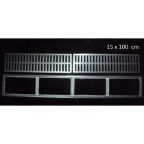 10 Peças Ralo Linear Grelha, Alumínio Fundido! 15x100 Cm