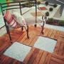 Deck Modular Madeira De Eucalipto 50cmx50cmx1,8cm