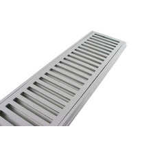 10 Peças Ralo Linear Grelha Perfil De Alumínio! 20x100 Cm