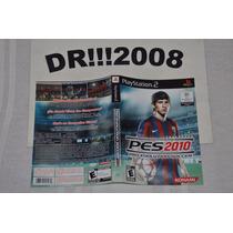 Encarte Pes 2010 Original P/ Playstation 2!!!