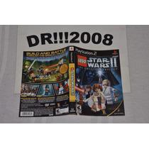 Encarte Lego Star Wars 2 Original P/ Playstation 2!!