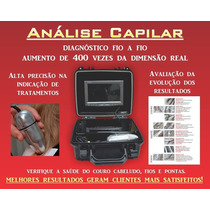 Maleta Para Analise Capilar Formato Saida P/ Tv E Pc