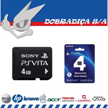 Playstation Vita Ps Vita Sony Memory Card 4gb Novo Selado