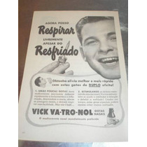 ( L - 290 ) Propaganda Antiga Remédio Vick Vatronol