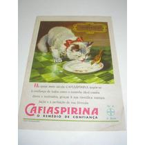 ( L - 290/ P ) Propaganda Antiga Bayer Remédio Cafiaspirina