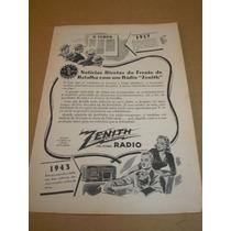 ( L - 290/p ) Propaganda Antiga 2 Guerra - Rádio Zenith