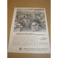 ( L - 290 ) Propaganda Antiga Fnm Fábrica Nacional Motores