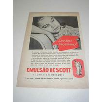 ( L - 290 ) Propaganda Antiga Tônico Emulsão De Scott
