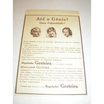 ( L - 290 ) Propaganda Antiga Remédio Regulador Gesteira