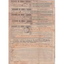 5 Telegramas - Deptº Correios E Telégrafos - 1944