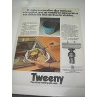 ( L 290/ G ) Propaganda Antiga Triturador De Lixo Tweeny