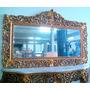 Aparador Madeira Dourada Espelho Relicário Santo Antônio