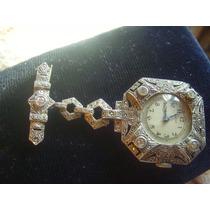 Relógio Broche Em Prata 935 E Macassitas - Raridade