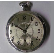 Relógio Bolso Girard Perregaux Caixa De Prata 50 Mm Original