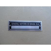 Plaqueta Nº Chassi P/ Opala Placa General Motors Brasil