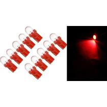 Kit 10 Lampadas Led Pingo Vermelha T10 12v Frete Grátis