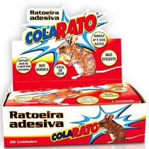 Ratoeira Adesiva Cola Rato Pega Rato Caixa 20 Unidades