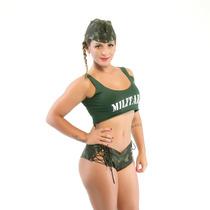 Fantasia Feminina Sexy Militar Short Sensual + Frete Barato!