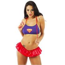 Sexshop -kit Fantasia Sexy Super Girl + Produtos Sensuais