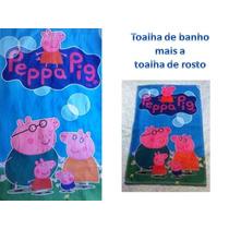 Toalha De Praia + Toalhinha Peppa Pig- Pronta Entrega