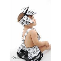 Jardineira Infantil E Para Bebê (jardineira+turbante)