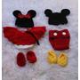 Newborn Minie E Mickey Feito A Mao , Props... Acessorios.