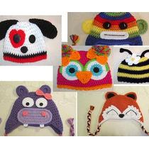 Touca Croche De Animais Bichinhos - Newborn Fotografia Bebes