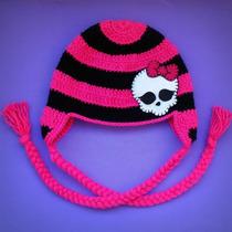 Touca Em Crochê Infantil Monster High Todos Os Tamanhos