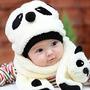 Conjunto Cachecol Panda Importado Pronta Entrega