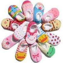 Lote 06 Pares Meias De Bichinhos Para Bebês Antiderrapante