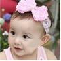 Faixa Tiara Para Bebês Com Renda E Pérolas