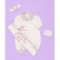 Saída De Maternidade Princesa Rosa Bebe - Enxoval De Bebe