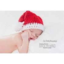 Touca Gorro Papai Noel Bebê Ensaio Fotografico Bebê Newborn