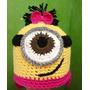 Touca Croche Infantil Minions P/ Meninas Todos Os Tamanhos