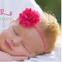 Faixa De Cabelo - Hairband Tiara Infantil Bebê Flor Com Tule