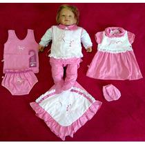 Kit Saída Maternidade Menina Rosa / Goiaba Sonho De Nenê