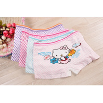 Kit 4 Peças Calcinhas Boxer Bebê Infantil Hello Kitty