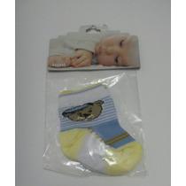 Kit Com 2 Pares De Meias De Algodão Recém Nascido
