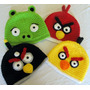 Touca De Crochê Angry Birds E Bad Piggies Gorro Chapeu Game