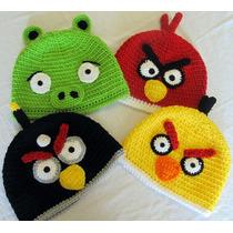 Touca De Crochê Angry Birds E Bad Piggies Gorro Chapeu Game