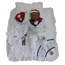 Kit Saída Maternidade Menino Marinheiro Sonho De Nenê