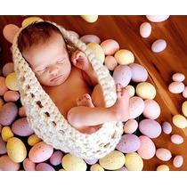 Casulo Ninho Cesta De Croche Newborn Para Bebes