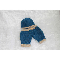 Conjunto Newborn Calça E Touca Em Crochê By Débora Cripa