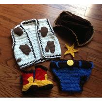 Conjunto Newborn De Crochê Woody - Toy Story - Art Crochê