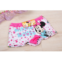 Kit 4 Calcinhas Boxer Bebê Infantil Minnie Mouse
