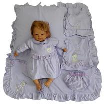 Kit Saída Maternidade Menina Lilás Sonho De Nenê