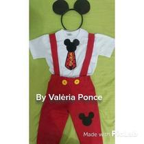 Fantasia Mickey (camiseta +calça +arquinho)