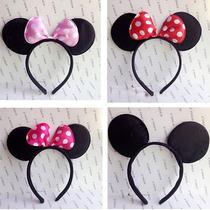 Arco Cabelo Acessório Cabeça Aniversário Minnie Mickey Festa