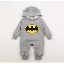 Macacão Batman Menino Bebê Inverno Outono