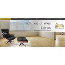 Poltrona Charles Eames Com Puff - Couro Natural